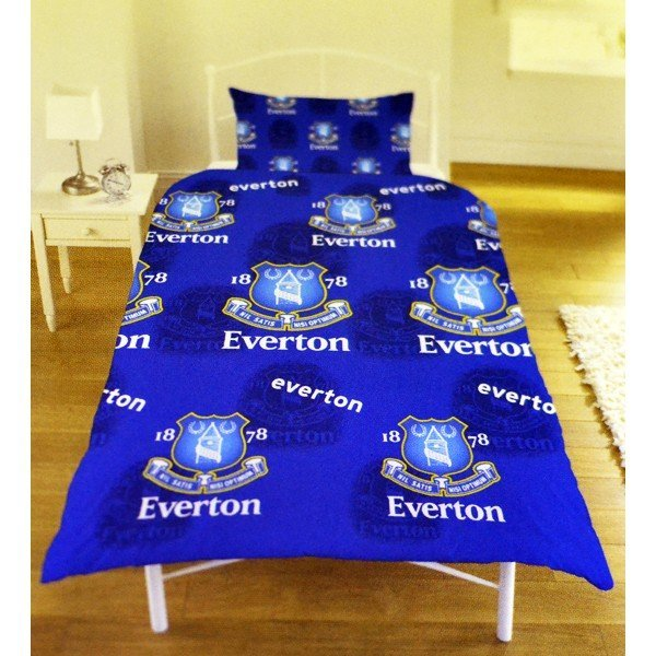 Everton Multi Crest Single Duvet Set