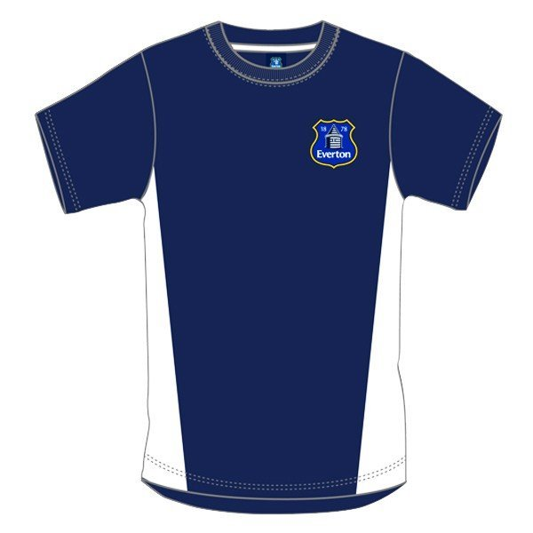 Everton Navy Crest Mens T-Shirt - L