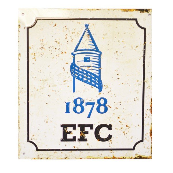 Everton Retro Logo Sign