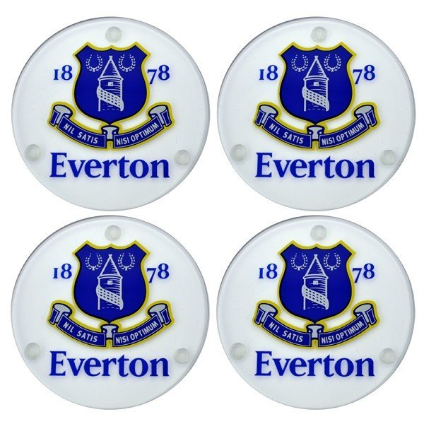 Everton Round Glass Coasters - 4PK