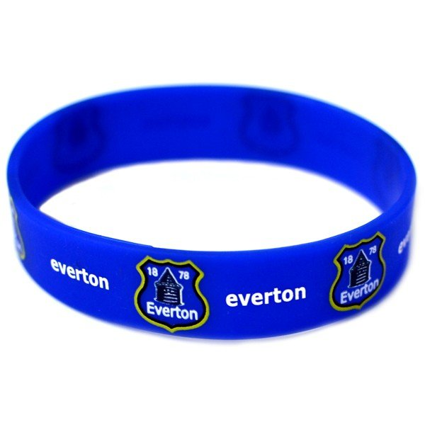 Everton Rubber Crest Single Wristband