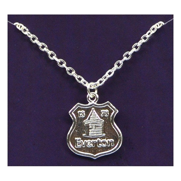 Everton Silver Plated Crest Pendant/Chain