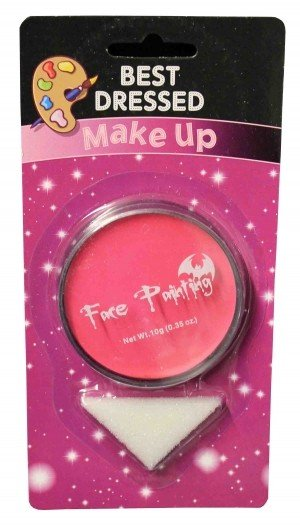 Pink Fancy Dress Halloween Party Makeup Face Paint With Sponge