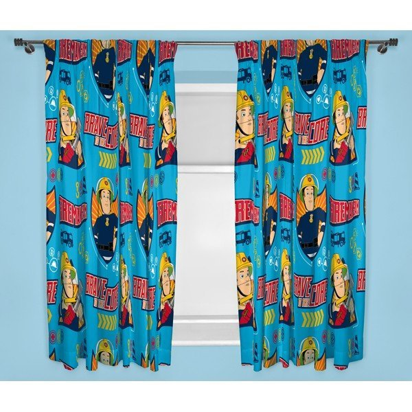 Fireman Sam Brave Curtains - 72 Inch