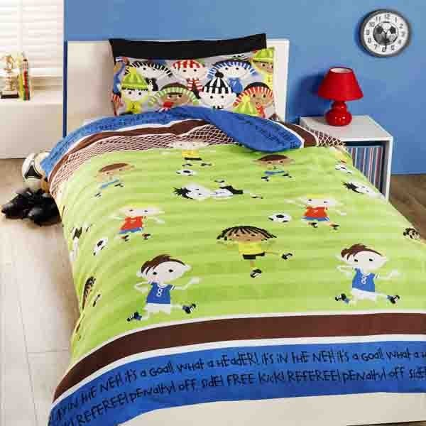Football Friends Single Duvet Set