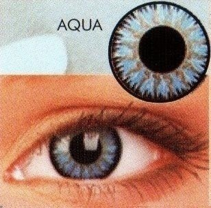 Glamour Aqua Coloured Contact Lenses  (3Month Lenses)