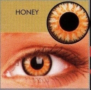 Glamour Honey Coloured Contact Lenses  (3Month Lenses)