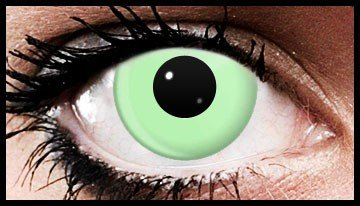 Green Block Funky Crazy Coloured Contact Lenses (90 Day)