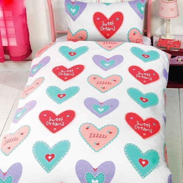 Hearts Single Duvet Set