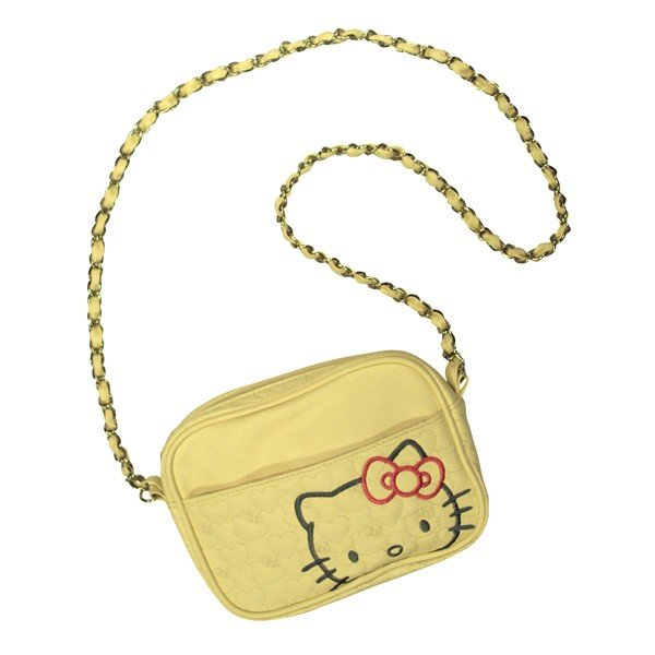 Hello Kitty Cream Quilted Shoulder Chain Bag