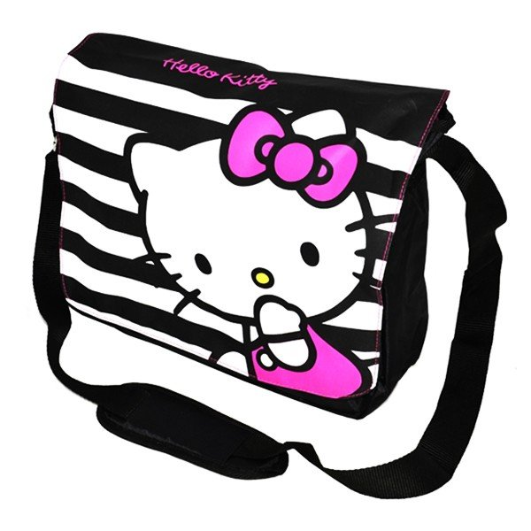 Hello Kitty Striped Messenger Bag