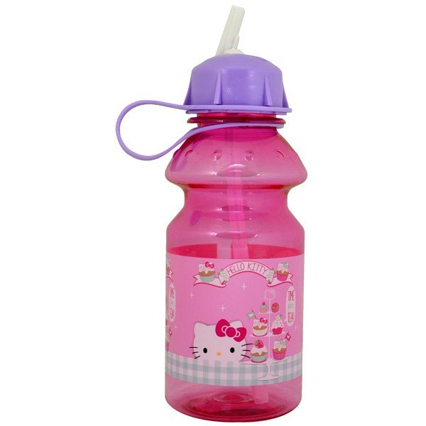 Hello Kitty Tea Party Plastic Sports Bottle
