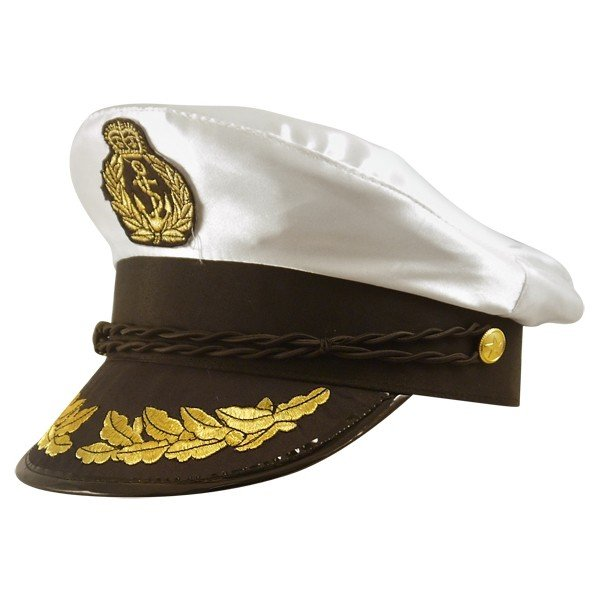 Henbrandt Adult Captain Hat - Satin