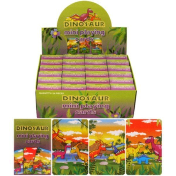 Henbrandt Assorted Mini Playing Cards - Dinosaur