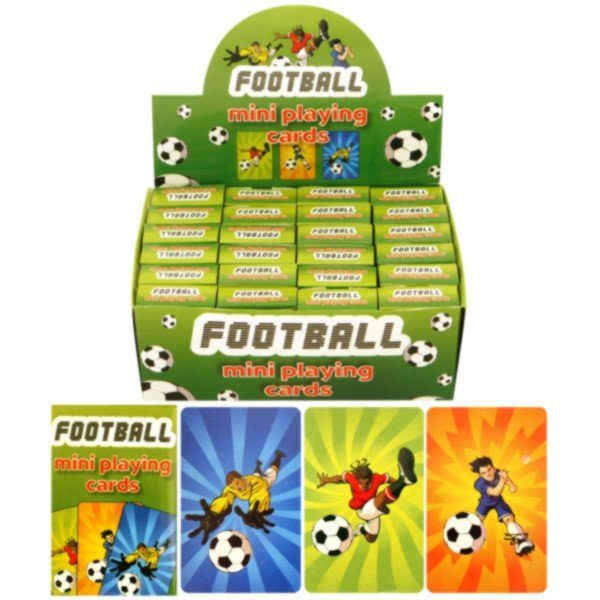 Henbrandt Assorted Mini Playing Cards - Football
