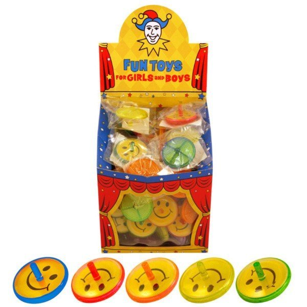 Henbrandt Assorted Spinning Tops - Smile