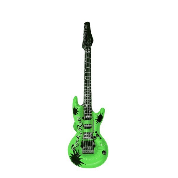 Henbrandt Inflatable Guitar - Green