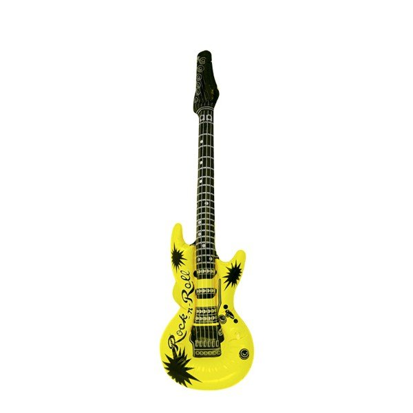 Henbrandt Inflatable Guitar - Yellow