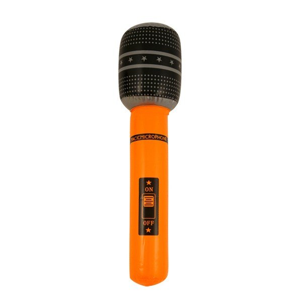 Henbrandt Inflatable Microphone - Orange