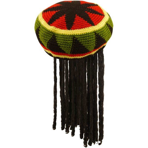 Henbrandt Jamaican Hat With Hair - Adult