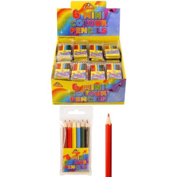 Henbrandt Mini Colour Pencils - Half Size