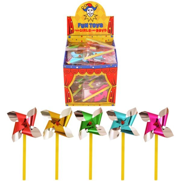 Henbrandt Mini Foil Windmill - Assorted Colours
