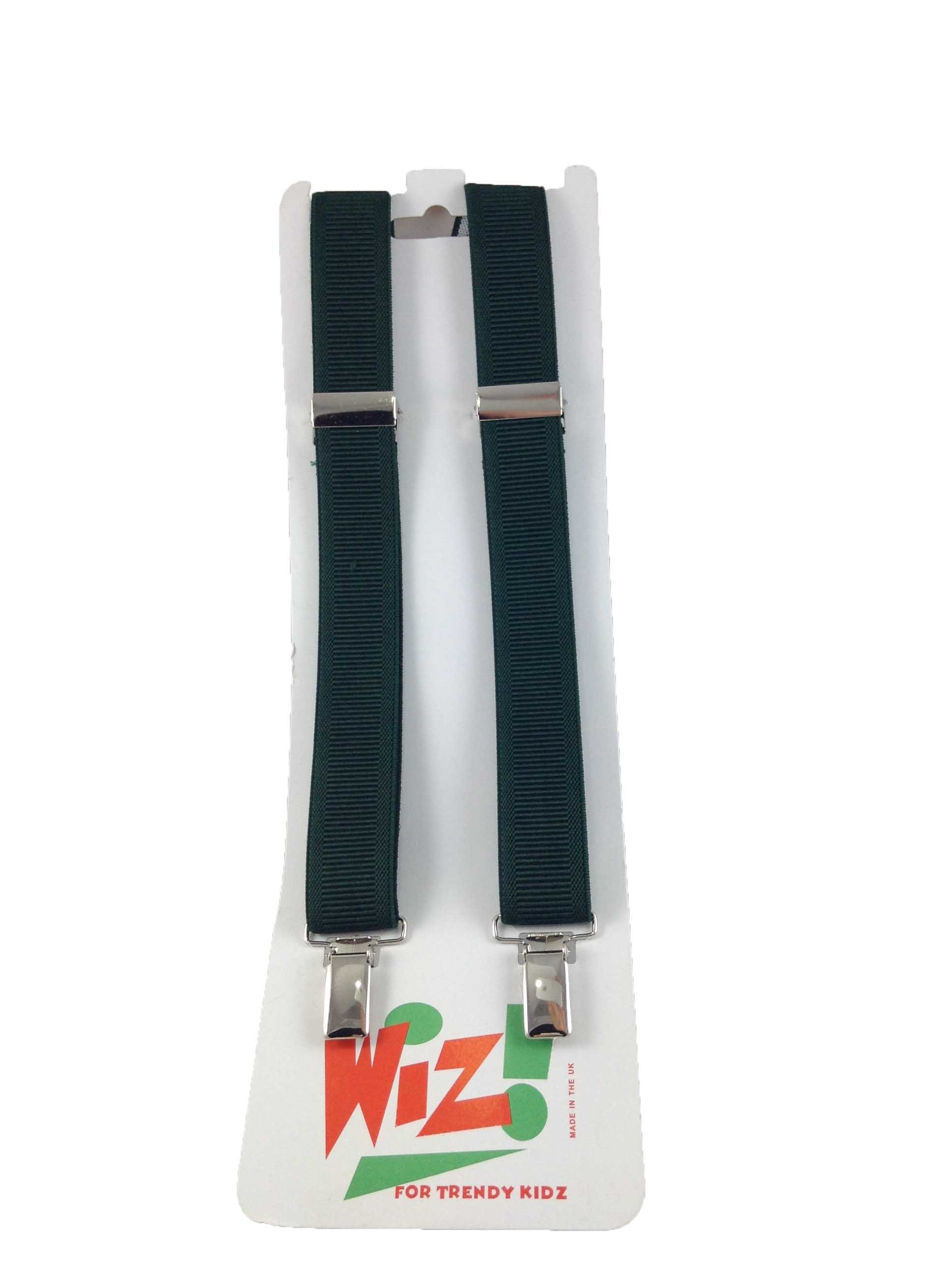 Children's Plain Dark Green Braces By Wiz