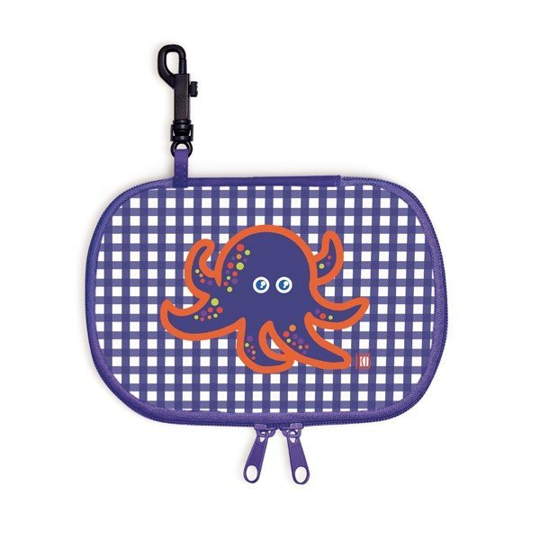 Iris Rico Rectangle Snack Bag - Blue Vichy