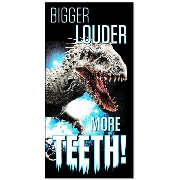 Jurassic World Towel - Bigger Louder More Teeth