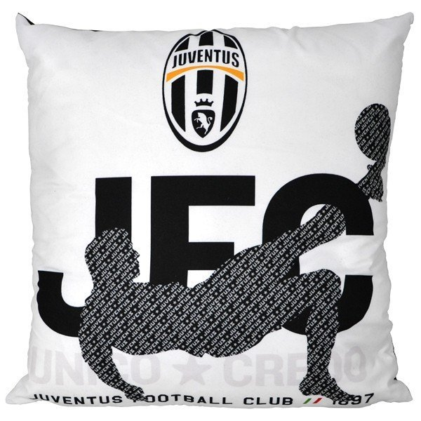 Juventus Printed Cushion - Black/White