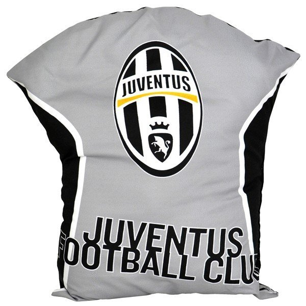 Juventus T-Shirt Cushion - Black/Grey
