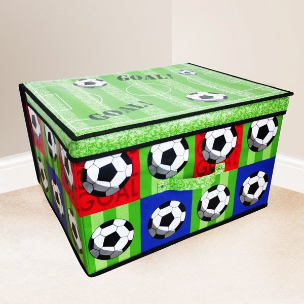 Kids Folding Storage Chest - Football