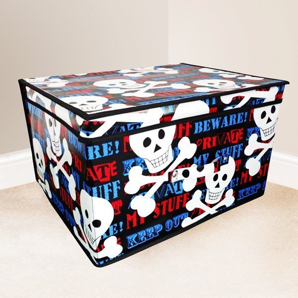 Kids Folding Storage Chest - Keep Out