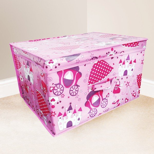 Kids Folding Storage Chest - Princess