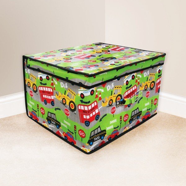 Kids Folding Storage Chest - Roadworks