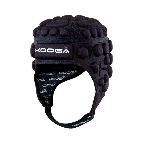 Kooga Airtech Loop II Headguard Black Grey - Large Boys