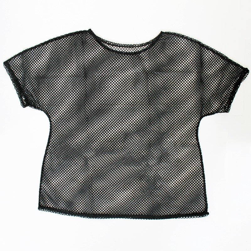 Ladies 80s Mesh Top In Black