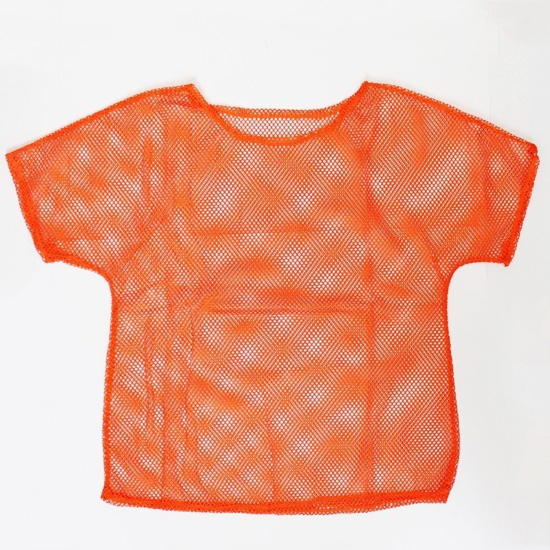 Ladies 80s Mesh Top In Neon Orange