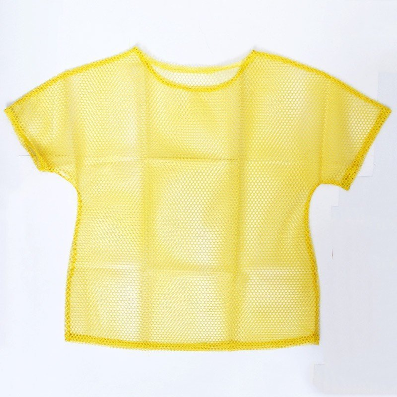 Ladies 80s Mesh Top In Neon Yellow