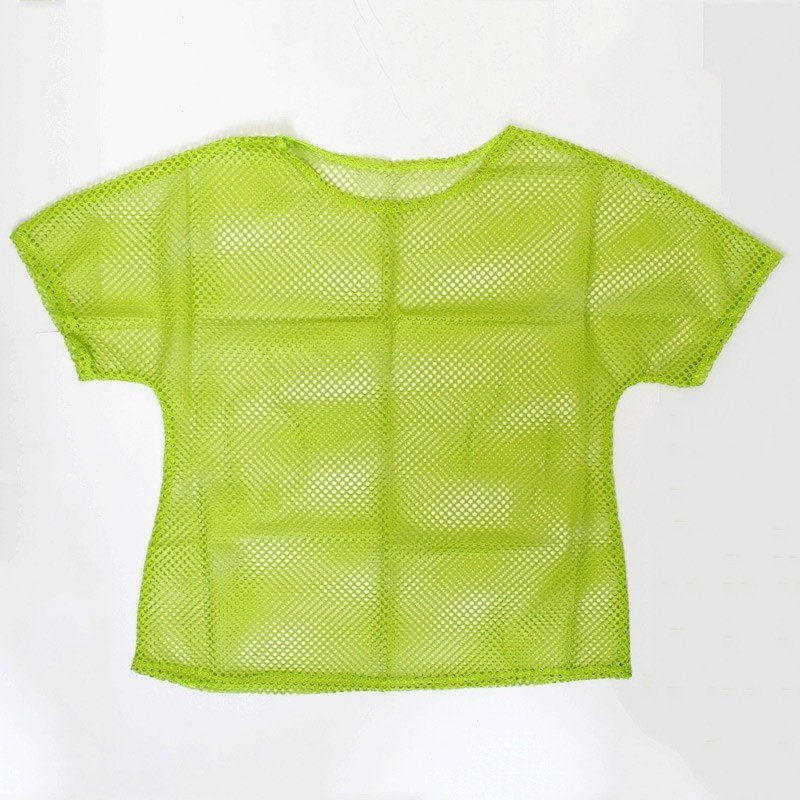 Ladies 80s Mesh Top In Neon Green