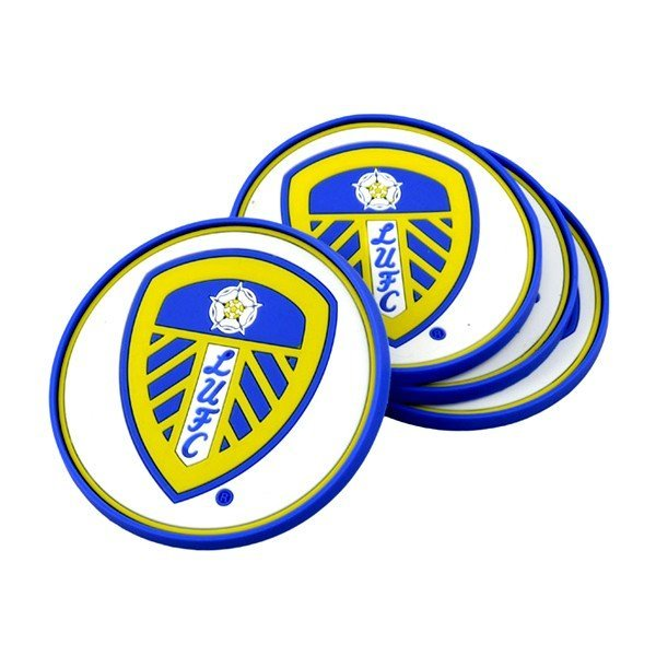 Leeds United 4PK Rubber Coasters