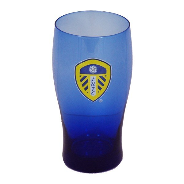 Leeds United Coloured Pint Glass