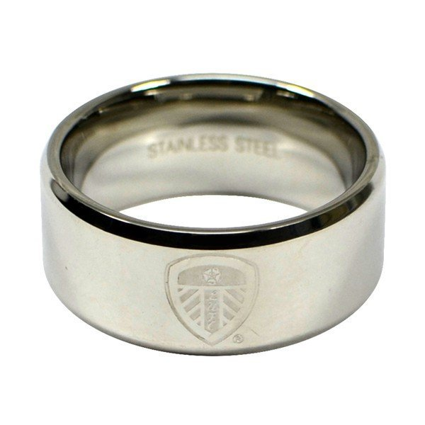 Leeds United Crest Band Ring - Medium