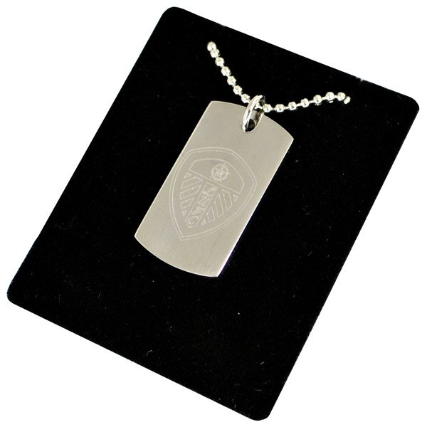 Leeds United Crest Dog Tag & Chain
