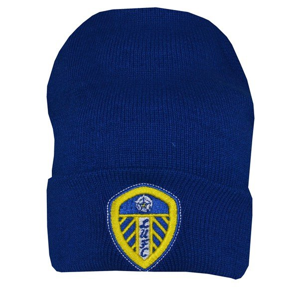 Leeds United Cuff Knitted Hat - Blue
