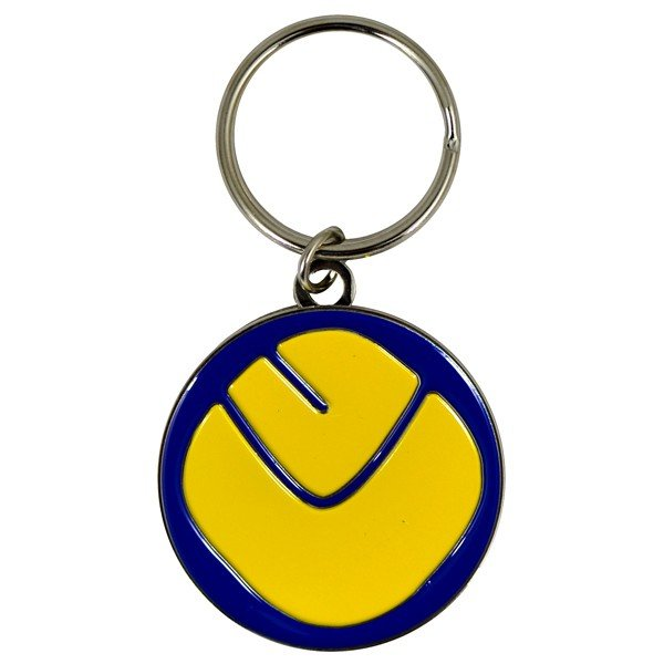Leeds United Smiley Keyring