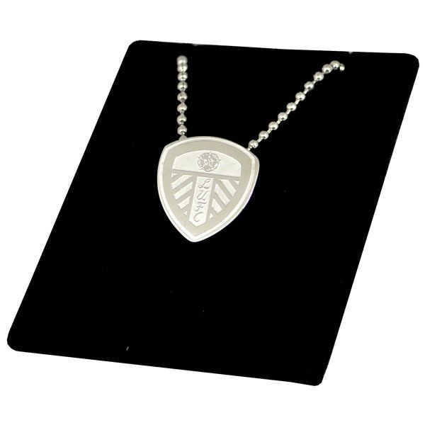 Leeds United Stainless Steel Crest Pendant/Chain