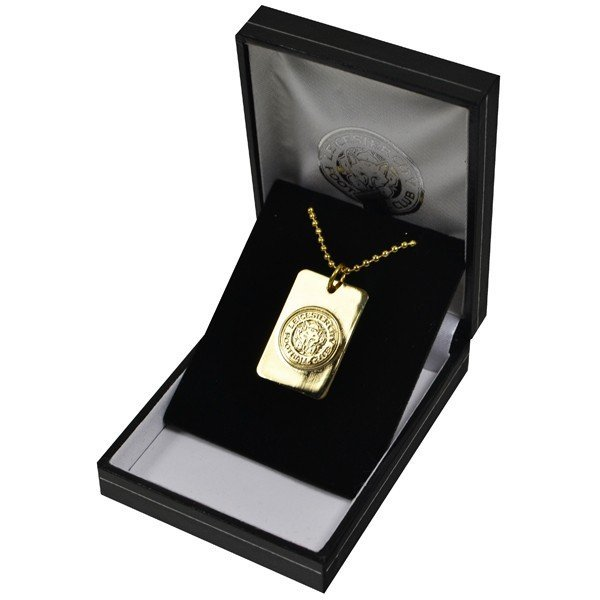 Leicester City Gold Plated Dog Tag and Chain