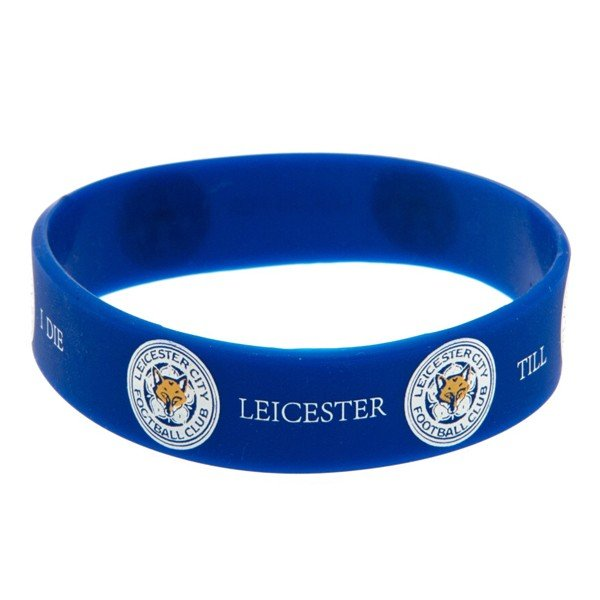 Leicester City Rubber Crest Single Wristband