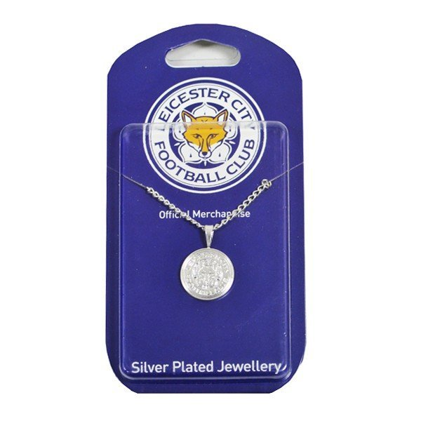 Leicester City Silver Plated Crest Pendant and Chain
